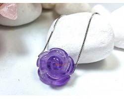 Amethyst Rose Crystal Pendant
