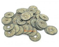 Antiquated Brass Chinese Emperors Coins (50 pcs)
