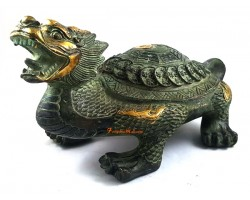 Antiquated Brass Feng Shui Dragon Tortoise (L)