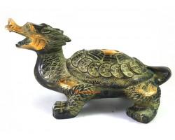 Antiquated Brass Feng Shui Dragon Tortoise (M)