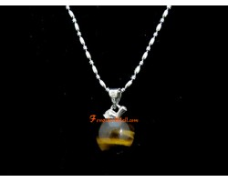 Apple Crystal Pendant with Stainless Steel Necklace