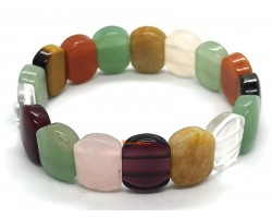 Assorted Crystal Bracelet (Rounded Rectangle)