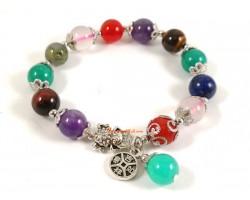 Assorted Crystal Bracelet with Money Frog