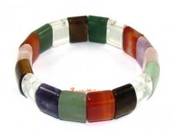 Assorted Crystal Bracelet (smooth square)
