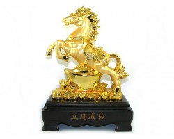 Auspicious Golden Horse with Gold Ingot (L)