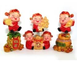 Auspicious Springy Five Wealth Gods