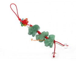 Aventurine Allies Mobile Hanging - Tiger, Dog and Horse