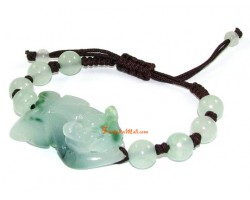 Green Aventurine Pi Yao Adjustable Bracelet