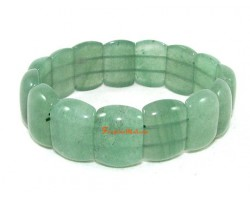 Rectangular Green Aventurine Crystal Bracelet