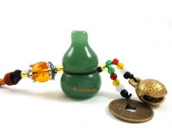 Aventurine Wu Lou for Health with Bell Hanging