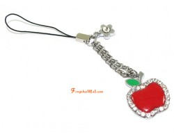 Bejeweled Red Apple Mobile Hanging