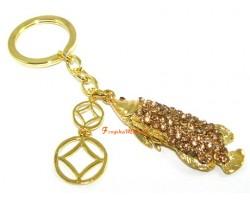 Bejeweled Feng Shui Arowana Keychain
