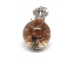 Bejeweled Crown Phantom Quartz Pendant