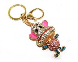 Bejeweled Cute Monkey Keychain