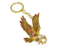 Bejeweled Eagle for Success Keychain