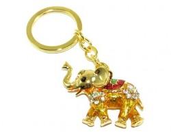 Bejeweled Colorful Elephant Keychain