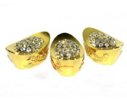 Bejeweled Exquisite Gold Ingots with Dragon and Phoenix (3x)