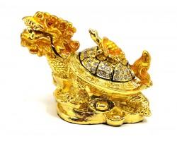 Bejeweled Feng Shui Dragon Tortoise