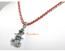 Bejeweled Five Element Pagoda Feng Shui Pendant
