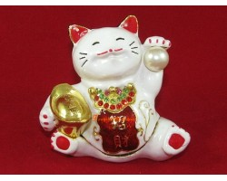 Bejeweled Wealth Magnifying Fortune Cat