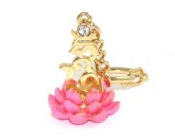 Bejeweled Hum on Lotus Keychain