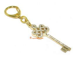 Bejeweled Mystic Knot Key to Success Keychain