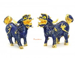 Bejeweled Pair of Blue Pi Yao