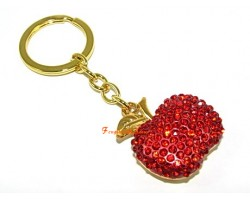 Bejeweled Apple Keychain