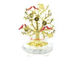 Bejeweled Tree of Life with Birds and Coins
