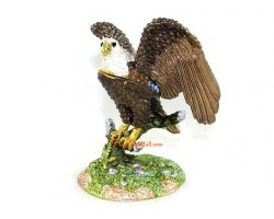 Bejeweled Wish-Fulfilling Eagle for Business Luck