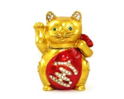 Bejeweled Wishfulfilling Fortune Cat