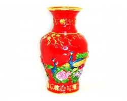 Bejewelled Action Vase (Red)