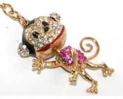 Bejewelled Cute Monkey Keychain