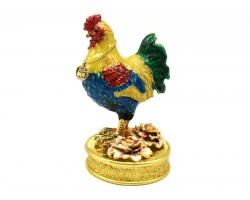 Bejewelled Peach Blossom Rooster