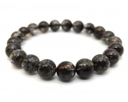 Black Copper Titanium Rutilated Quartz Bracelet