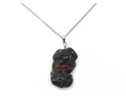 Black Obsidian Pi Yao Pendant