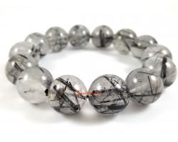 Black Rutilated Quartz Bracelet (Top Grade)