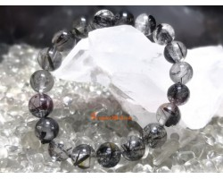 Black Rutilated Quartz Bracelet (High Grade)