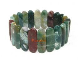Bloodstone Bangle-style Elastic Crystal Bracelet