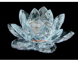 Crystal Feng Shui Lotus Flower (blue)