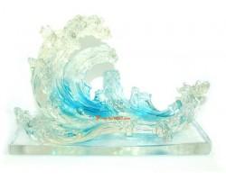 Blue Crystal Water Wave