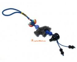 Blue Rhinoceros Protection Amulet