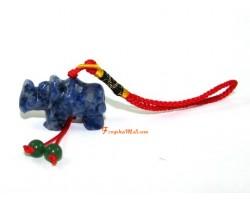 Blue Sodalite Rhinoceros Protection Hanging
