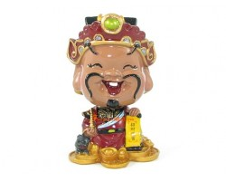Bobblehead Wealth God for Good Education Luck