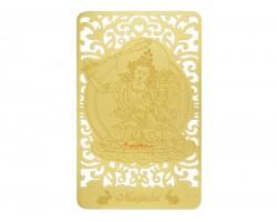 Bodhisattva for Rabbit (Manjushri) Printed on a Card in Gold