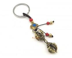 Brass Dorje Keychain