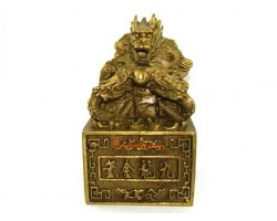 Brass Feng Shui Nine Dragon Seal