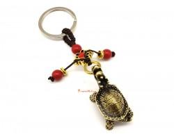 Brass Dragon Tortoise Keychain