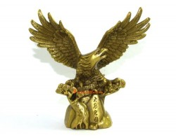 Brass Eagle Spreading Wings for Success