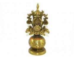 Brass Eight Auspicious Objects Statue
